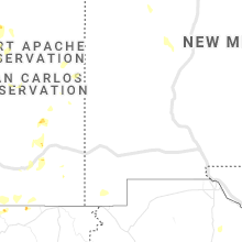 Regional Hail Map for Silver City, NM - Saturday, August 1, 2020