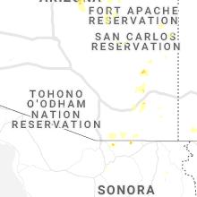 Regional Hail Map for Tucson, AZ - Saturday, August 1, 2020