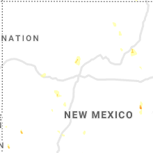 Regional Hail Map for Albuquerque, NM - Sunday, August 2, 2020