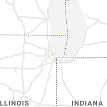 Regional Hail Map for Chicago, IL - Sunday, August 2, 2020