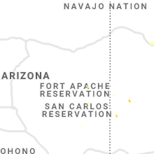 Regional Hail Map for Show Low, AZ - Sunday, August 2, 2020