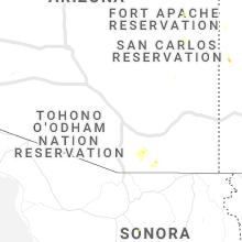 Regional Hail Map for Tucson, AZ - Sunday, August 2, 2020