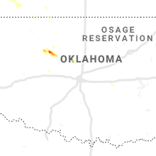 Regional Hail Map for Oklahoma City, OK - Tuesday, August 4, 2020
