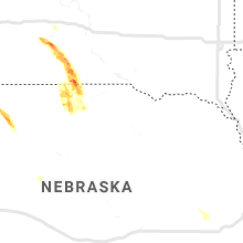Regional Hail Map for Oneill, NE - Tuesday, August 4, 2020