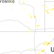 Regional Hail Map for Laramie, WY - Wednesday, August 5, 2020