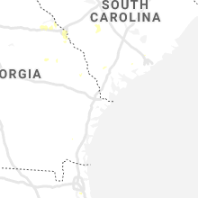 Regional Hail Map for Savannah, GA - Wednesday, August 5, 2020