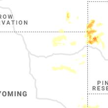 Regional Hail Map for Gillette, WY - Thursday, August 6, 2020