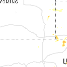 Regional Hail Map for Laramie, WY - Thursday, August 6, 2020