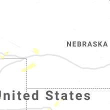 Regional Hail Map for North Platte, NE - Thursday, August 6, 2020