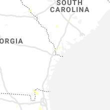 Regional Hail Map for Savannah, GA - Thursday, August 6, 2020