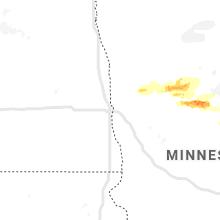 Regional Hail Map for Fargo, ND - Friday, August 7, 2020
