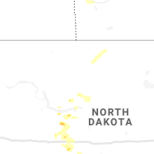 Regional Hail Map for Minot, ND - Friday, August 7, 2020