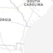 Regional Hail Map for Savannah, GA - Friday, August 7, 2020