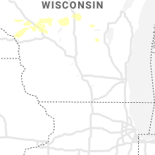 Regional Hail Map for Madison, WI - Saturday, August 8, 2020