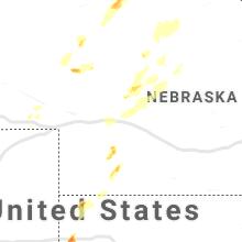 Regional Hail Map for North Platte, NE - Saturday, August 8, 2020