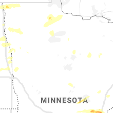 Regional Hail Map for Bemidji, MN - Sunday, August 9, 2020