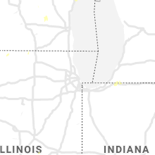 Regional Hail Map for Chicago, IL - Sunday, August 9, 2020