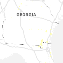 Regional Hail Map for Douglas, GA - Sunday, August 9, 2020