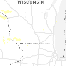 Regional Hail Map for Madison, WI - Sunday, August 9, 2020