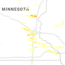 Regional Hail Map for Minneapolis, MN - Sunday, August 9, 2020