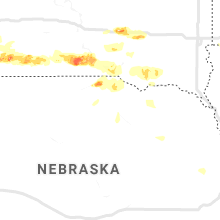 Regional Hail Map for Oneill, NE - Sunday, August 9, 2020