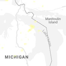 Regional Hail Map for Alpena, MI - Monday, August 10, 2020