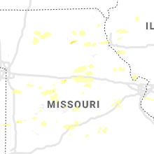 Regional Hail Map for Columbia, MO - Monday, August 10, 2020
