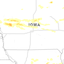 Regional Hail Map for Des Moines, IA - Monday, August 10, 2020