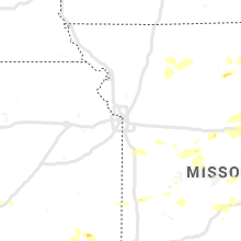 Regional Hail Map for Kansas City, MO - Monday, August 10, 2020