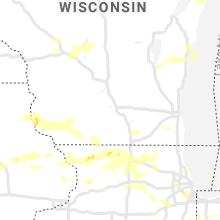 Regional Hail Map for Madison, WI - Monday, August 10, 2020