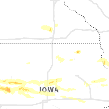 Regional Hail Map for Mason City, IA - Monday, August 10, 2020