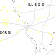 Regional Hail Map for Saint Louis, MO - Monday, August 10, 2020