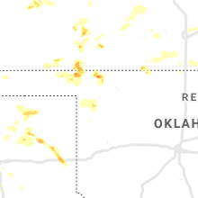 Regional Hail Map for Woodward, OK - Monday, August 10, 2020
