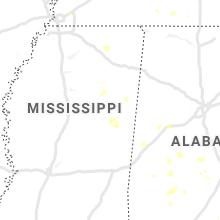 Regional Hail Map for Starkville, MS - Tuesday, August 11, 2020