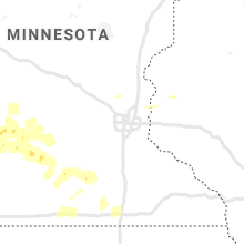 Regional Hail Map for Minneapolis, MN - Wednesday, August 12, 2020