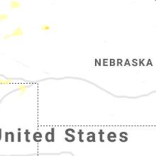 Regional Hail Map for North Platte, NE - Wednesday, August 12, 2020