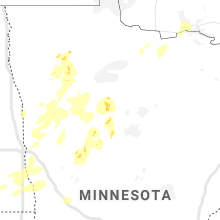 Regional Hail Map for Bemidji, MN - Thursday, August 13, 2020