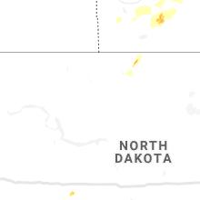 Regional Hail Map for Minot, ND - Thursday, August 13, 2020