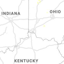 Regional Hail Map for Cincinnati, OH - Friday, August 14, 2020