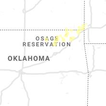 Regional Hail Map for Tulsa, OK - Saturday, August 15, 2020