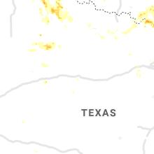 Regional Hail Map for Abilene, TX - Sunday, August 16, 2020