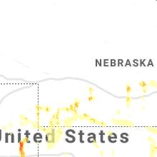 Regional Hail Map for North Platte, NE - Sunday, August 16, 2020