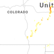 Regional Hail Map for Pueblo, CO - Sunday, August 16, 2020
