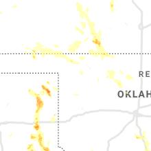 Regional Hail Map for Woodward, OK - Sunday, August 16, 2020