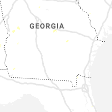 Regional Hail Map for Douglas, GA - Thursday, August 20, 2020