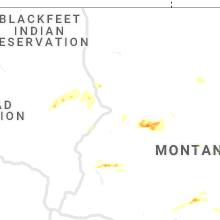 Regional Hail Map for Great Falls, MT - Thursday, August 20, 2020