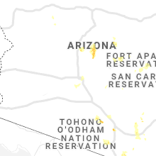Regional Hail Map for Phoenix, AZ - Thursday, August 20, 2020