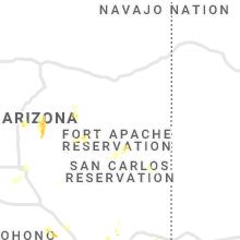 Regional Hail Map for Show Low, AZ - Thursday, August 20, 2020