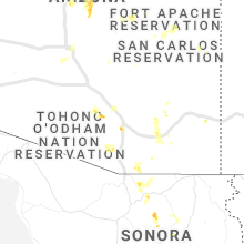 Regional Hail Map for Tucson, AZ - Thursday, August 20, 2020