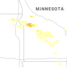 Regional Hail Map for Montevideo, MN - Friday, August 21, 2020